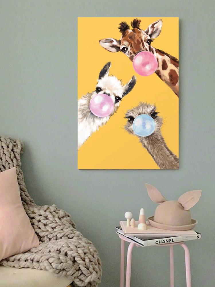 لوحة حيوانات خشب ام دي اف مقاس 40x60 سنتيمتر