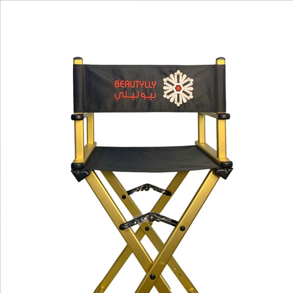 طباعة اسمك او شعارك على كرسي المكياج