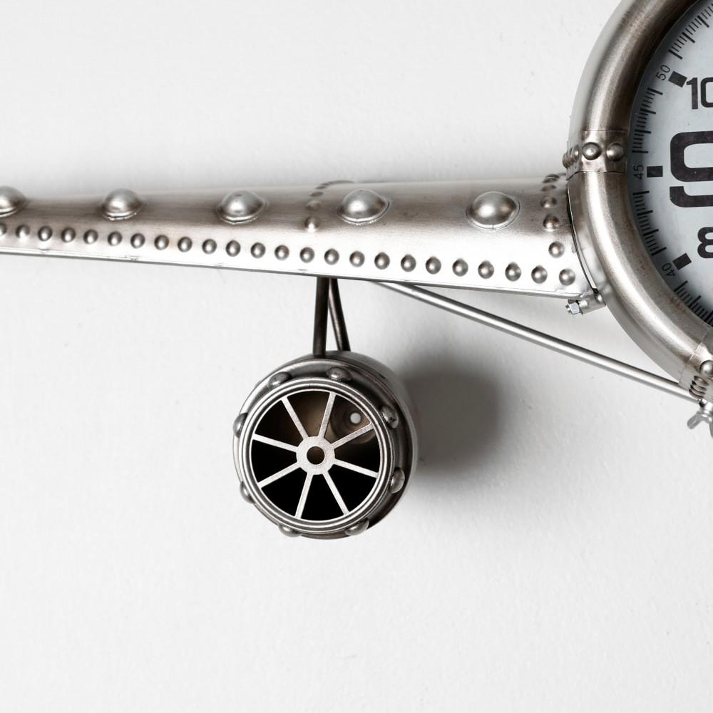 دقة تصميم ساعة حائط أنتيكة موديل بلان ثري شكل طائرة صناعة معدنية