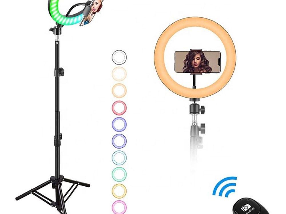 رينق لايت 10 انش إضاءة دائرية مع استاند مزود بخاصية التحكم