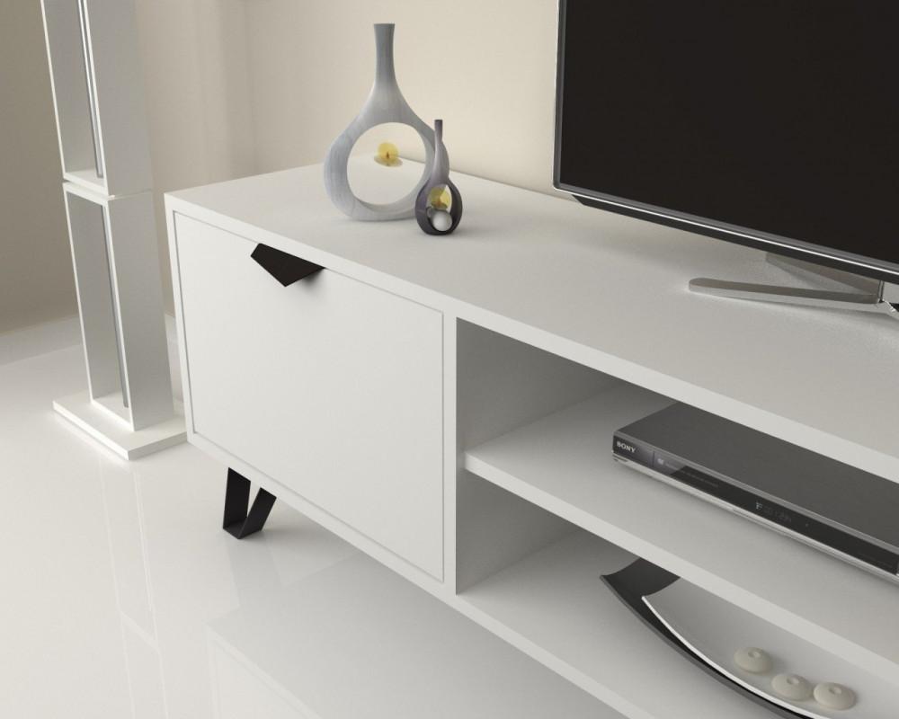 تجارة بلا حدود طاولة تلفاز عملية بوحدتين تخزين بتصميم يتماشى مع الموضة