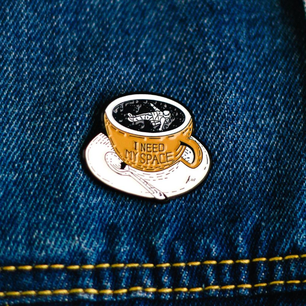بروش معدني أدوات القهوة المختصة اكسسوار لطلاب اكسسوارات جامعة متجر