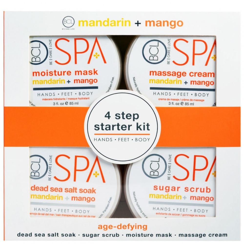 مجموعة العناية بالأيدي والأقدام bcl 4 step starter kit mandarin mang