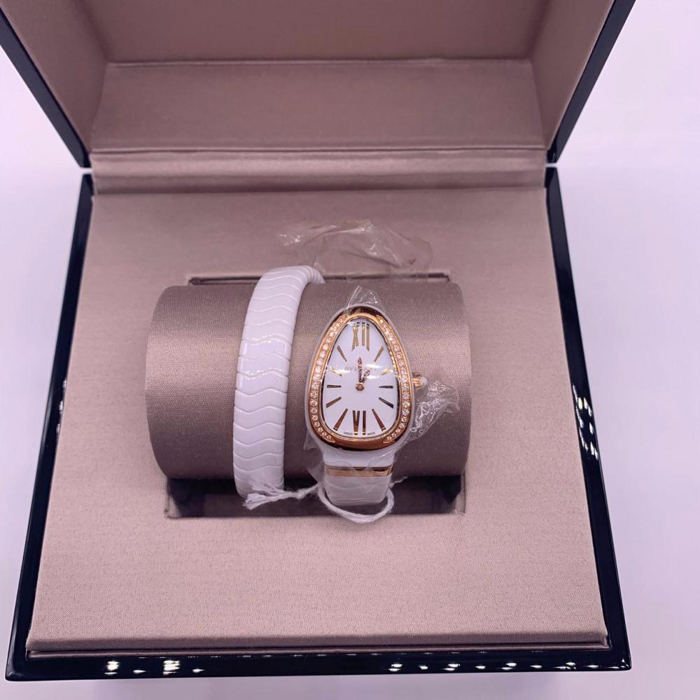 ساعة بولغري الثعبان سنيك الأصلية الثمينة الجديدة