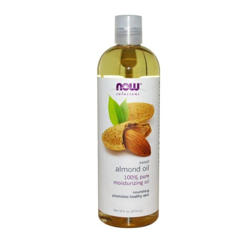 ناو فودز زيت اللوز الحلو النقي للجسم 473 مل  NOW SOLUTIONS Almond oil