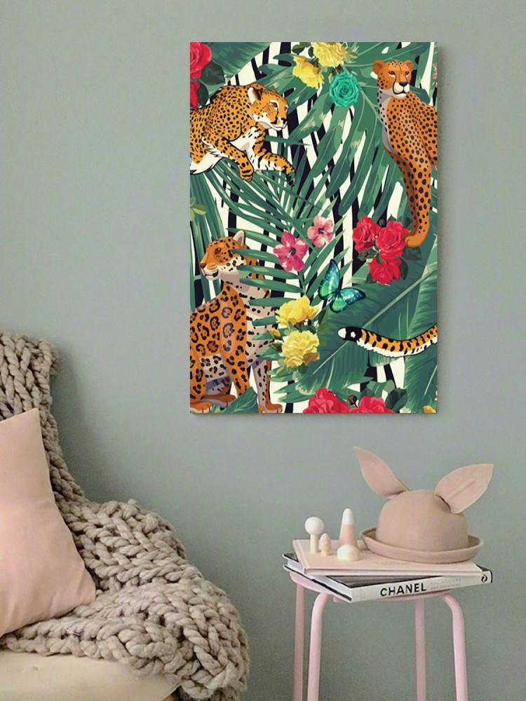 لوحة الفهد خشب ام دي اف مقاس 40x60 سنتيمتر