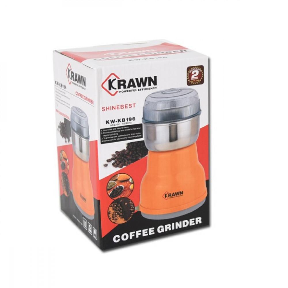 مطحنة قهوة KRAWN-KB196 فضي / برتقالي