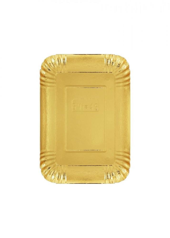 صحون ورق ذهبي  20 سم  13 سم