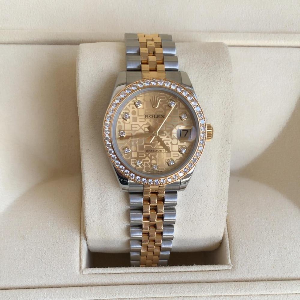 ساعة rolex ديت جست الأصلية الثمينة مستخدمة
