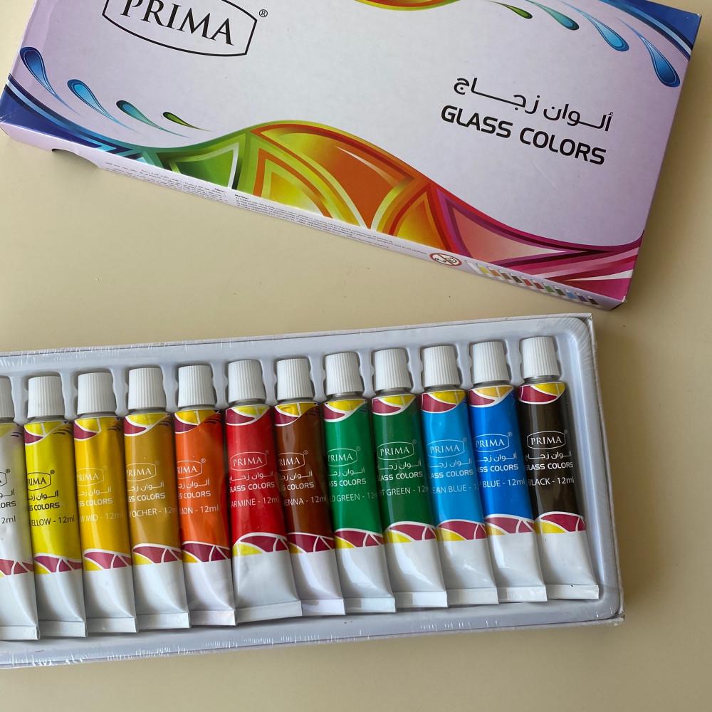 مجموعة الوان زجاج 12 لون