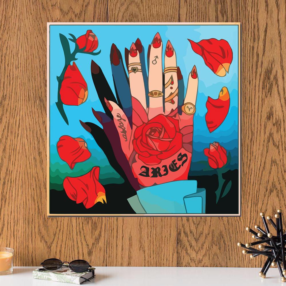 لوحة برج الحمل خشب ام دي اف مقاس 30x30 سنتيمتر