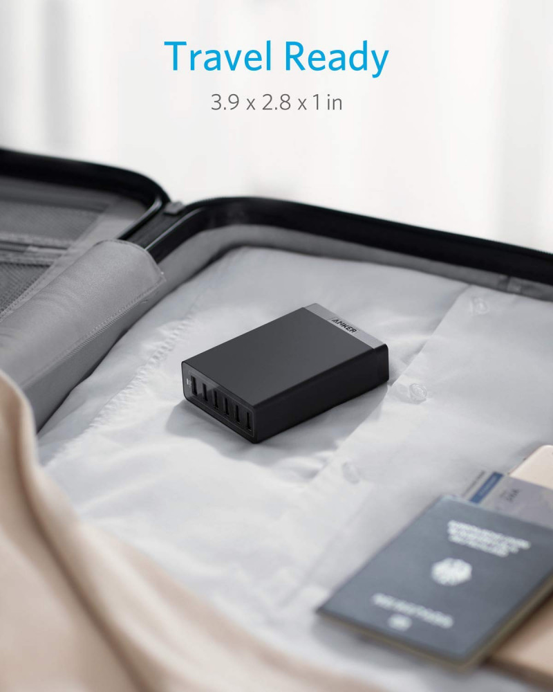 USB Wall Charger, Anker 60W 6 Port USB Charging Station