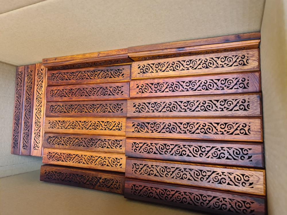 مبخرة قياس 24 سم - مصنوعة من خشب بادوك