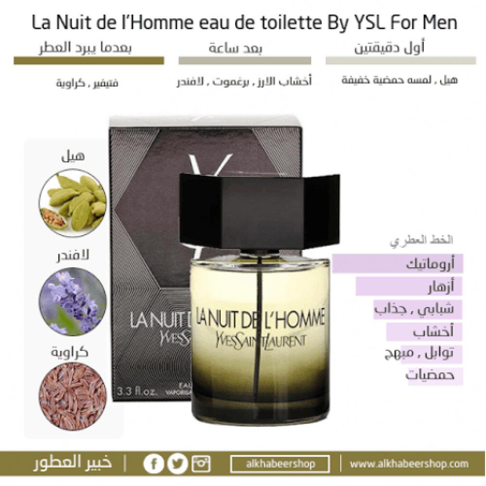 Yves Saint Laurent La Nuit de LHomme Eau de Toilette 100mlمتجر خبير ال