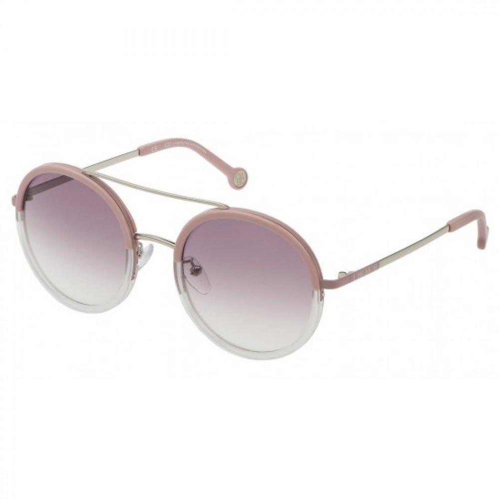 نظارات كارولينا شمسية للنساء - شكل دائريه - لون وردي - زكي