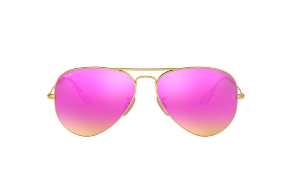 افضل نظارة ريبان شمسيه رجالي ونسائي - افياتور - لون ذهبي - زكي
