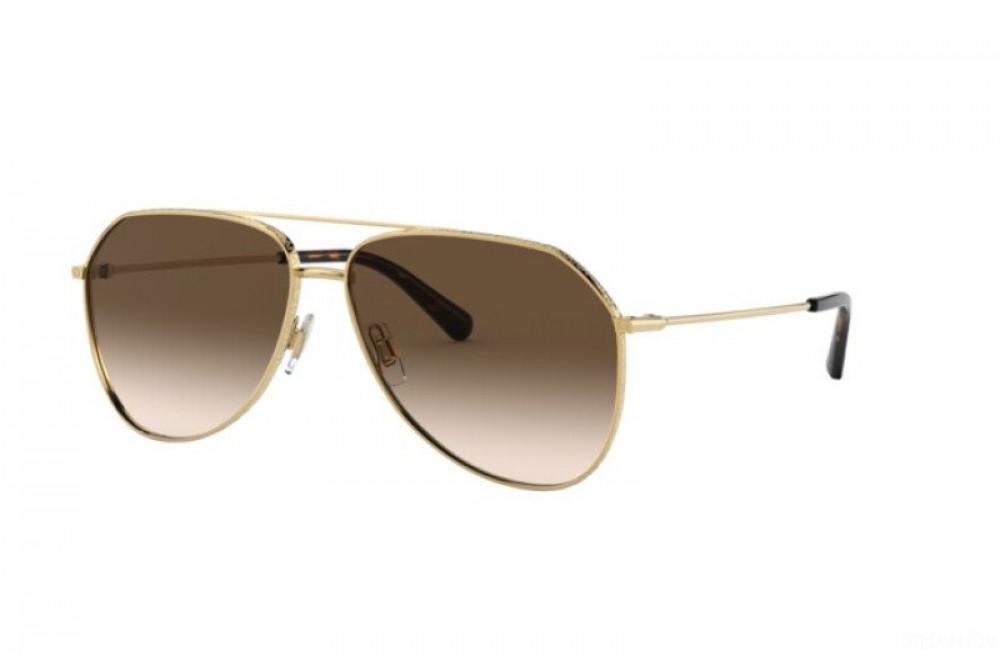 نظارة دولسي اند جابانا شمسية للرجال - افياتور - لون ذهبي - زكي