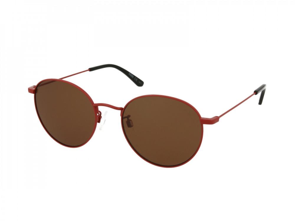 نظارات بوما الشمسية للرجال - شكل دائري - لون أحمر - زكي للبصريات