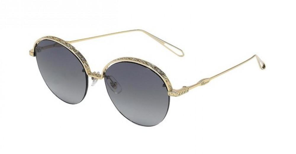 نظارات شوبارد نسائية شمسية - شكل دائري - لون ذهبي - زكي