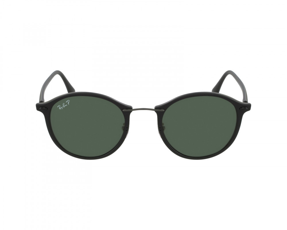 افضل نظارة ريبان شمسية للرجال -  أسود - شكل دائري - زكي للبصريات