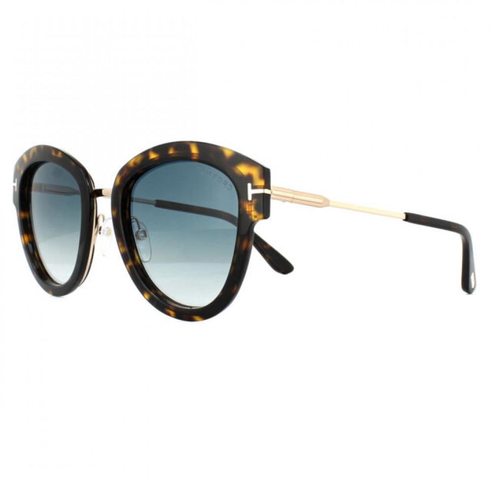 نظارات توم فورد نسائي شمسية - كات أي - لون ذهبي - زكي للبصريات