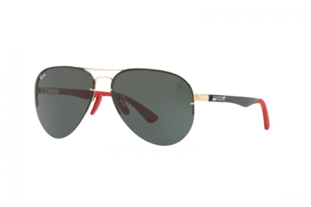 نظارة ريبان شمسية للرجال - افياتور باللون الأسود - زكي للبصريات