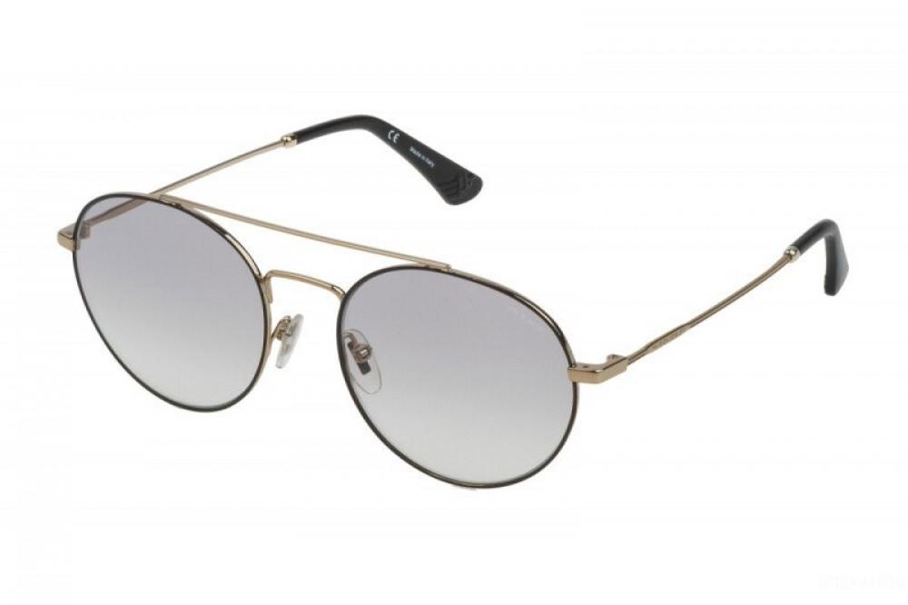 نظارة بوليس شمسية رجالية - شكل دائري - باللون الأسود - زكي للبصريات