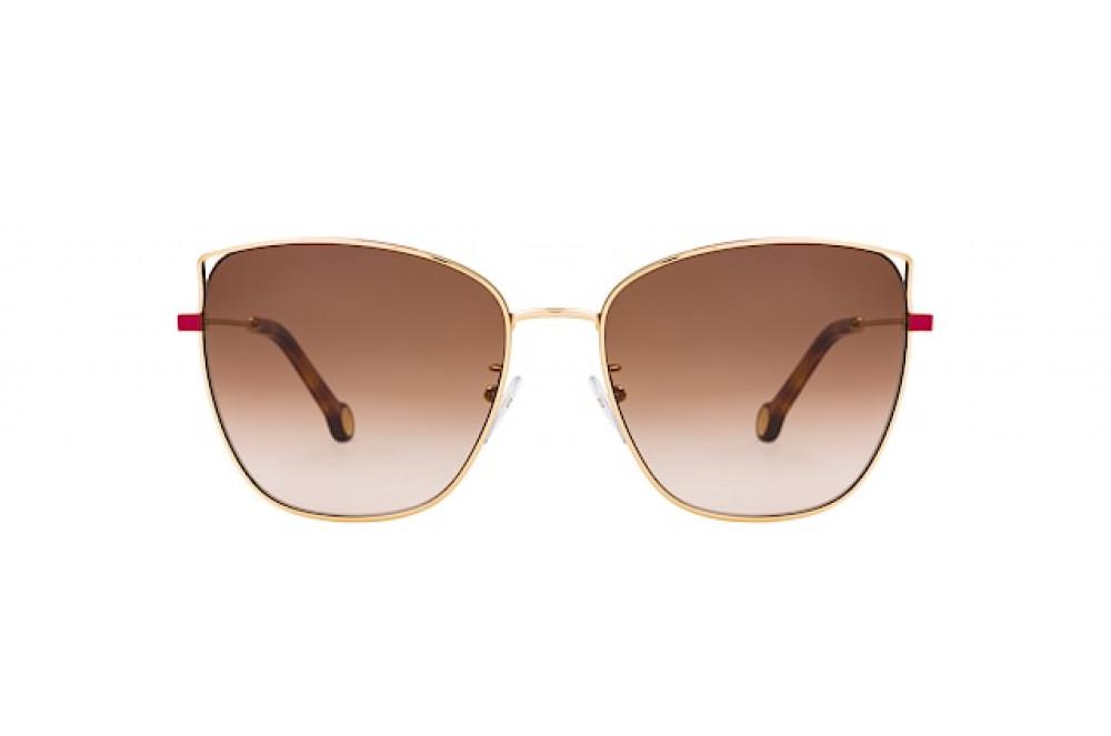 سعر نظارات كارولينا شمسيه للنساء - شكل كات أي - لون ذهبي - زكي