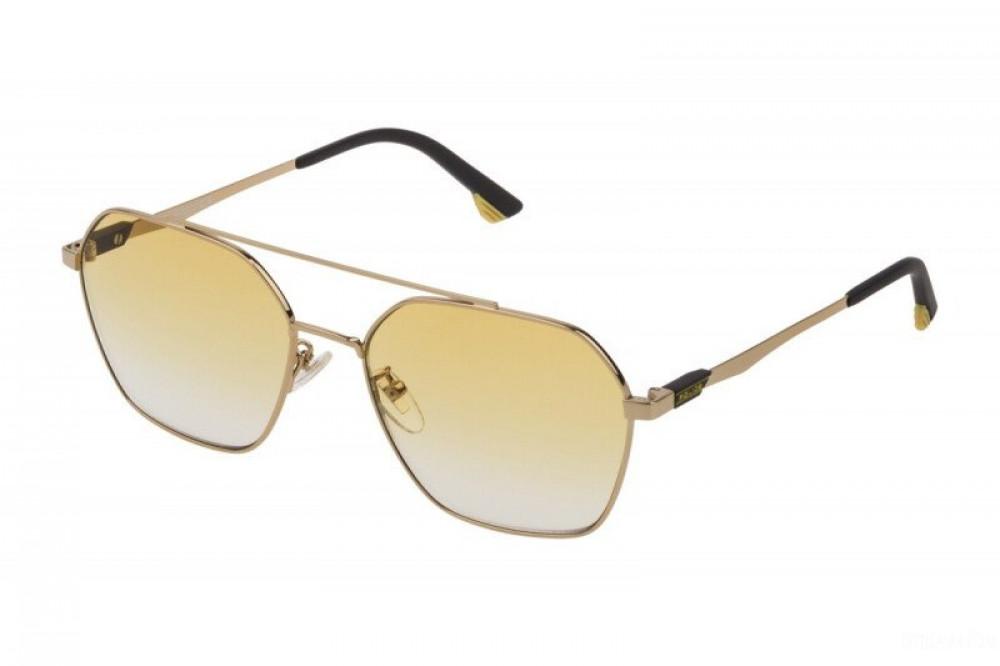 نظارة بوليس شمسية للجنسين - شكل سداسي - لون ذهبي - زكي للبصريات
