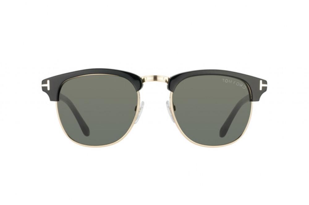 افضل نظارة توم فورد شمسية للرجال - لون ذهبي - زكي للبصريات