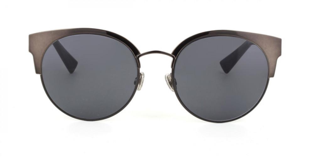 افضل نظارات شمسية نسائية ديور - شكل كات أي - لون فضي - زكي