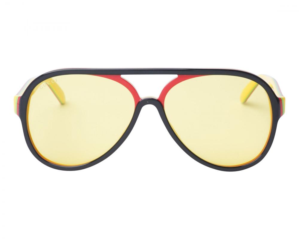 افضل نظارة قوتشي شمسية للرجال - شكل افياتور - سوداء - زكي للبصريات