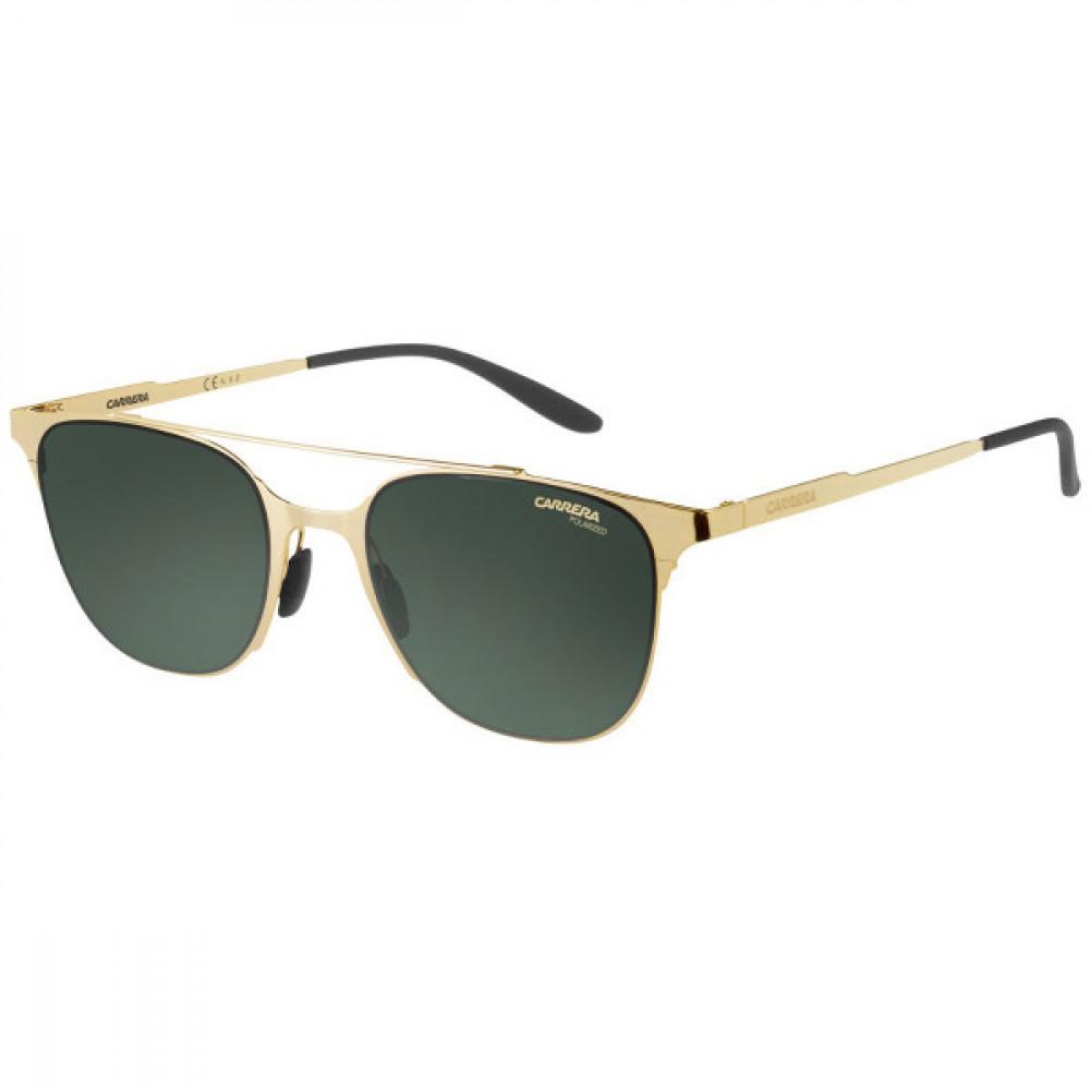 نظارة كاريرا شمسية للرجال - شكلها دائري - لون ذهبي - زكي للبصريات