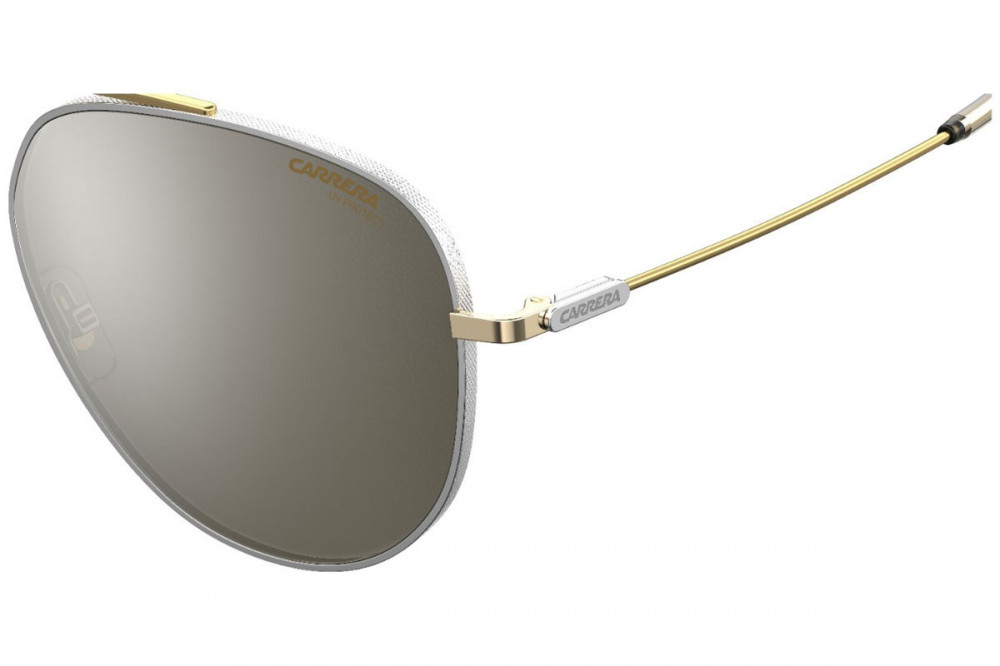 نظارة كاريرا شمسية للرجال - شكل أفياتور - لونها ذهبي - زكي للبصريات