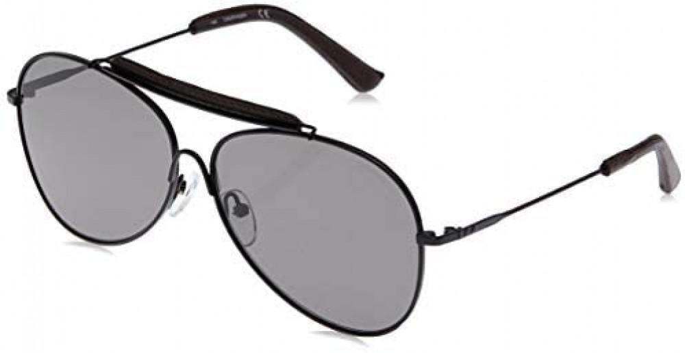 نظارات كالفن كلاين الشمسية للرجال - أفياتور - أسود - زكي للبصريات
