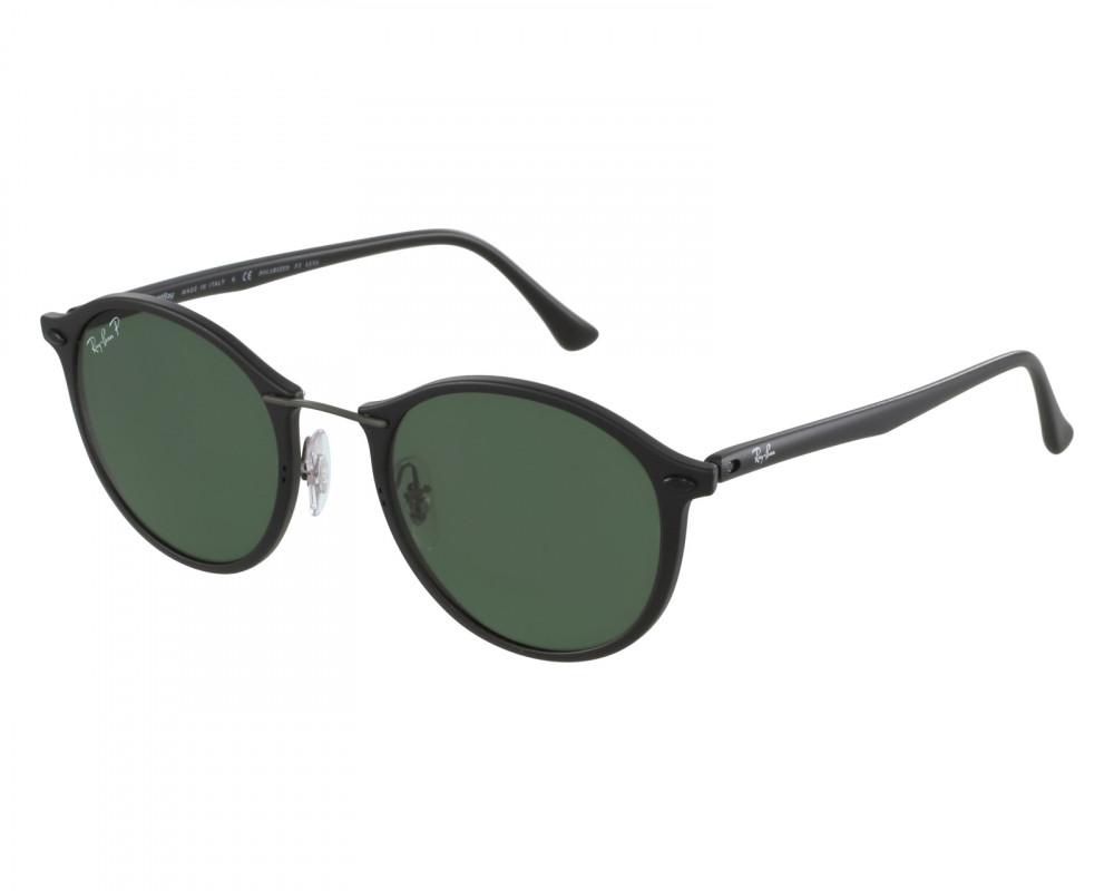 نظارة ريبان شمسية للرجال -  أسود - شكل دائري - زكي للبصريات