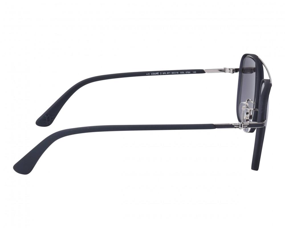 احسن نظارة بوليس شمسية للرجال - شكل مربع - لون أسود - زكي للبصريات