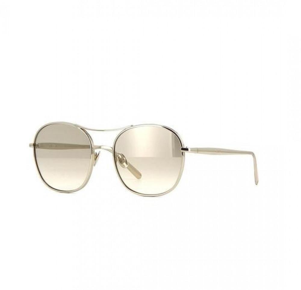 نظارة كلوي شمسية للنساء - شكل دائري - لونها نحاسي - زكي