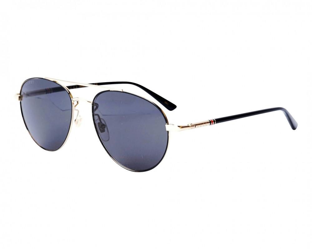 نظارة قوتشي شمسية للرجال - شكل بيضاوي - لون ذهبي - زكي للبصريات
