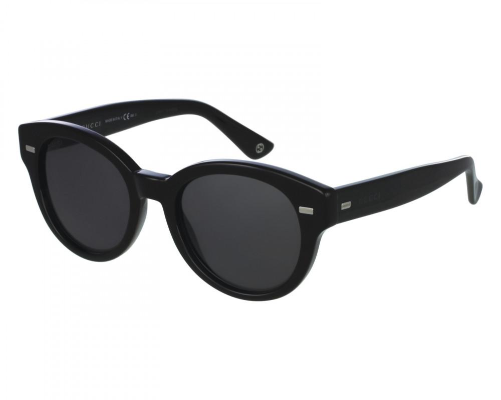 نظارة قوتشي شمسية للجنسين - شكل دائري - لون اسود - زكي للبصريات