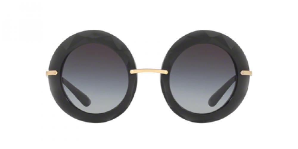 افضل نظارة دولسي اند جابانا شمسية للنساء - شكل دائري - لون أسود - زكي