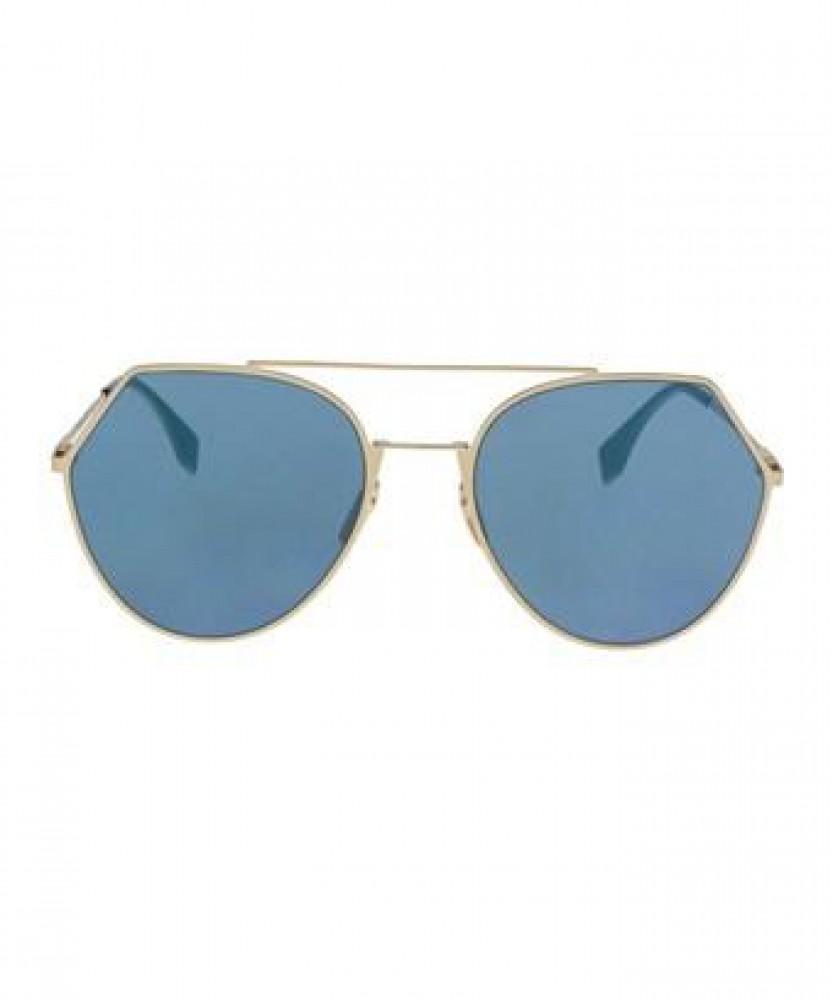 سعر نظارة فندي شمسية للجنسين - غير منتظمة الشكل - لون ذهبي - زكي للبصر