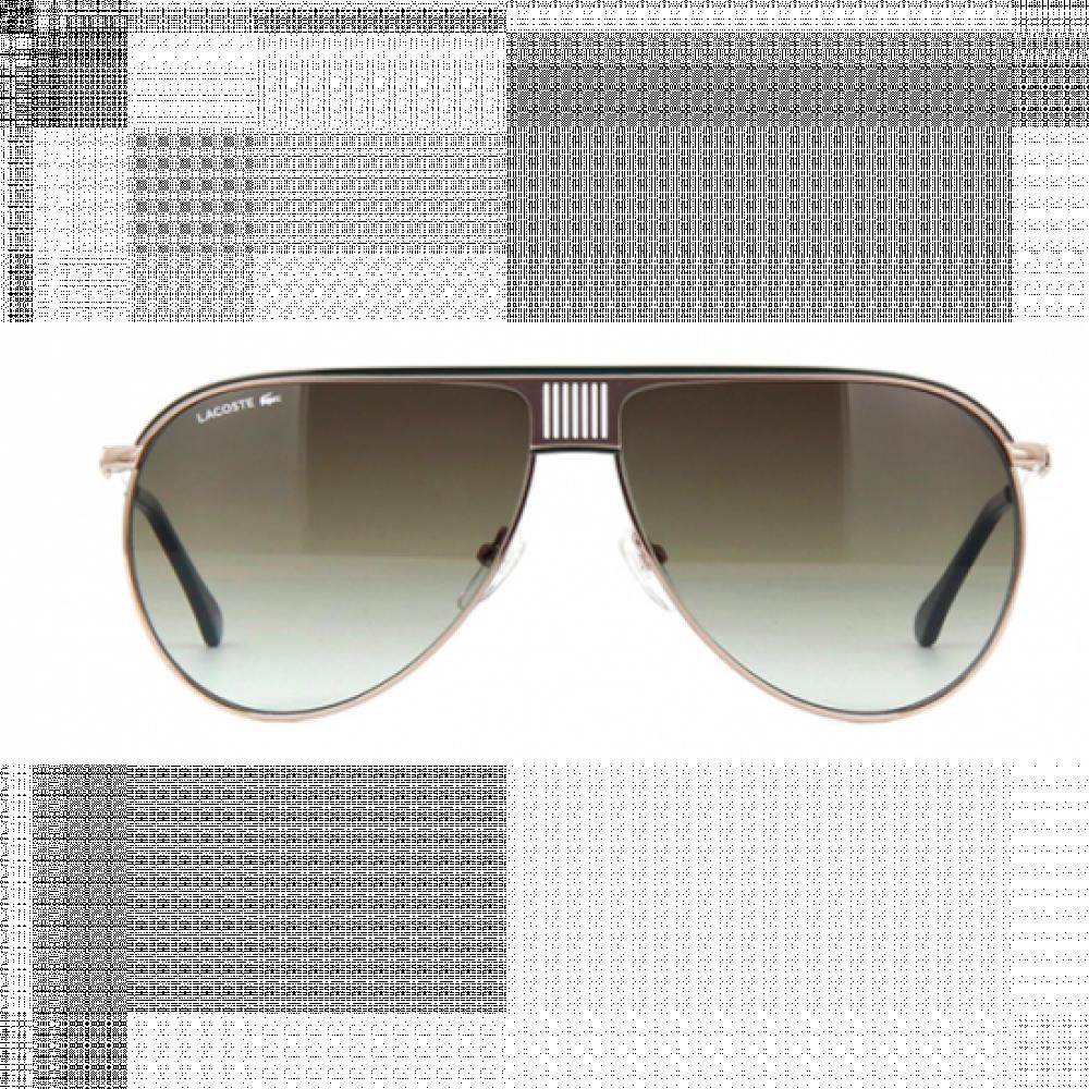 نظارة لاكوست شمسية للرجال - شكل افياتور - لون ذهبي - زكي للبصريات