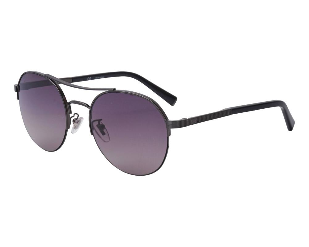 نظارة بوليس شمسية للرجال - شكل دائري - اسود - زكي للبصريات