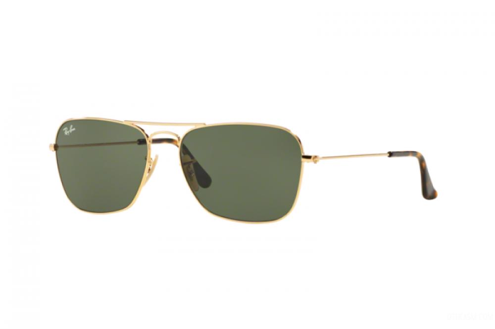نظارة ريبان شمسية رجالية ونسائية - مستطيلة - ذهبي - زكي للبصريات
