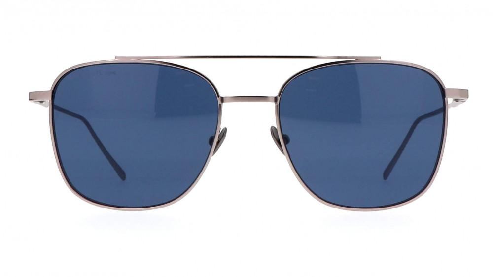 افضل نظارة لاكوست شمسية لكلا الجنسين - شكل افياتور - لون فضي - زكي