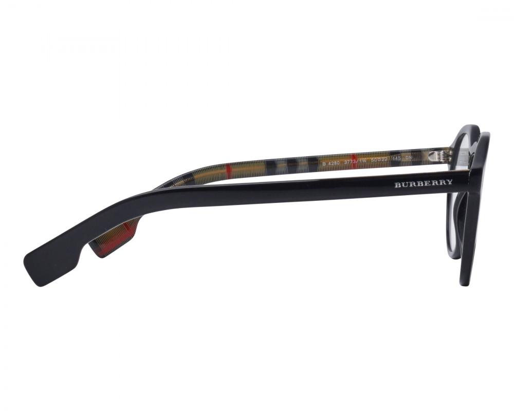 سعر نظارة بربري شمسية للجنسين - شكل دائري - لون أسود - زكي للبصريات