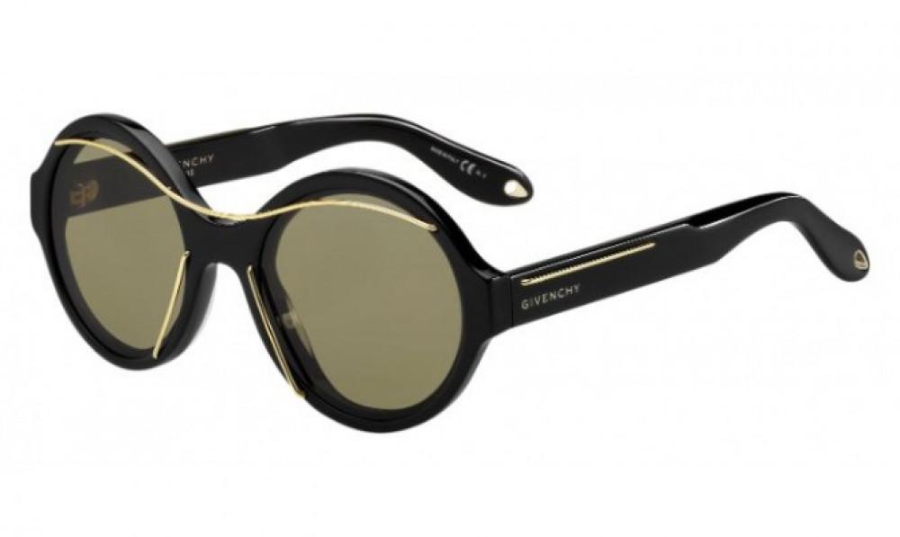 نظارة جيفنشي شمسية للرجال - شكل دائري - لون أسود - زكي للبصريات