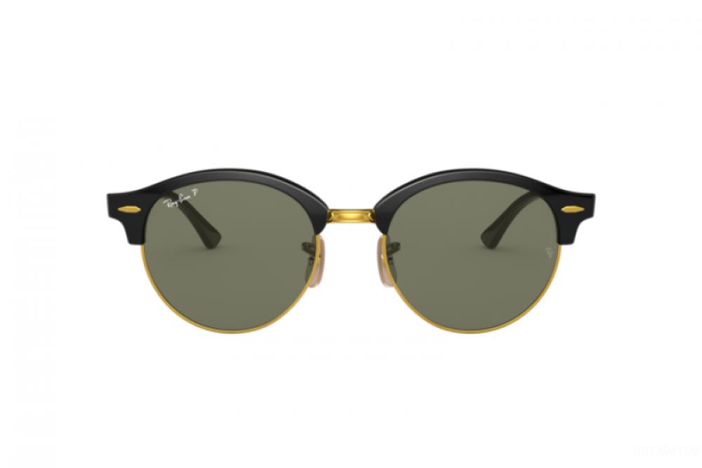 افضل نظارة ريبان شمسية للرجال -  أسود - دائرية - زكي للبصريات