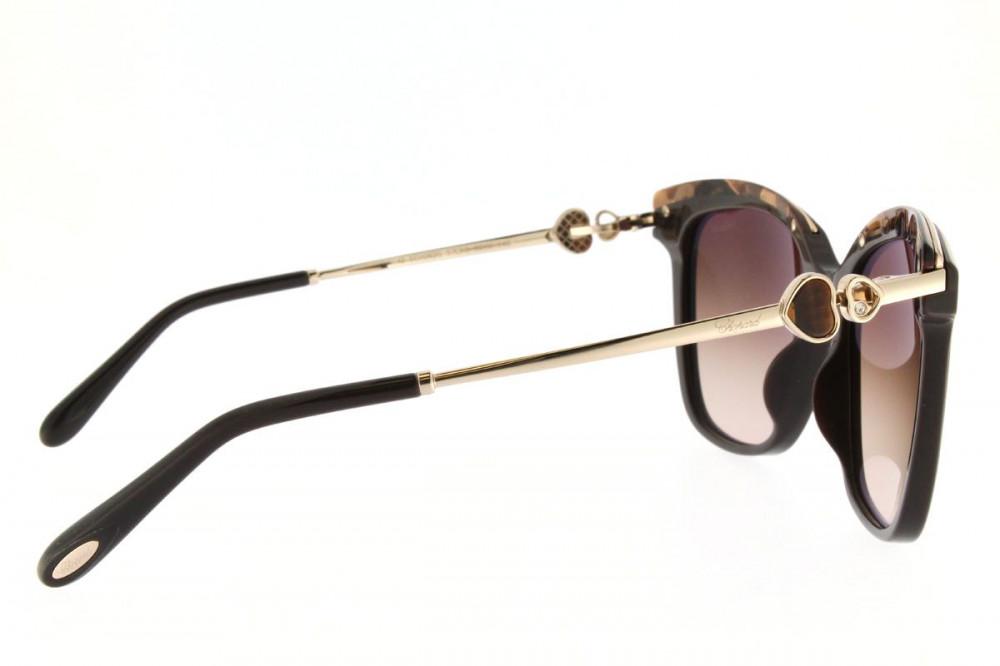 افضل نظارات شوبارد نسائية شمسية - شكلها مربع - لون اسود - زكي